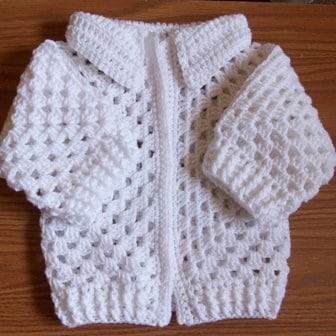 Easy Crochet Baby Sweater Pattern Free : EASY BABY CARDIGAN PATTERN Sewing Patterns for Baby