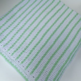 Beaded Stripes Baby Blanket