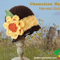 Chameleon Hat - Harvest Gold by Pattern Paradise