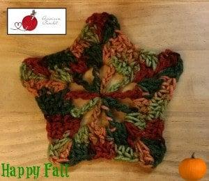 Autumn 5 Point Star Motif by American Crochet