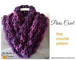 Paris Cowl by My Hobby is Crochet
