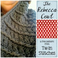 The Rebecca Cowl by Tw-in Stitches