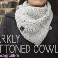 Sparkly Buttoned Cowl by Little Monkeys Crochet