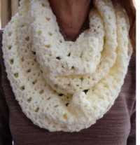 Lacy Infinity Scarf by Barb's Crochet