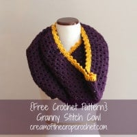 Granny Stitch Cowl by Cream Of The Crop Crochet