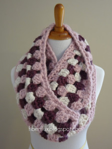 Cherries In Bloom Infinity Scarf by Fiber Flux