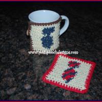 Neck Tie Coaster and Mug Rug by Posh Pooch Designs