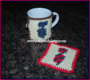 Neck Tie Coaster and Mug Rug by Posh Pooch Designs