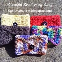 Crochet Slanted Shell Coffee Mug Cozy by EyeLoveKnots