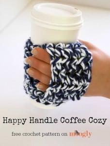 Happy Handle Coffee Cozy by Moogly