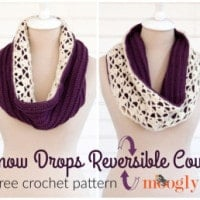 Snowdrops Reversible Cowl by Moogly