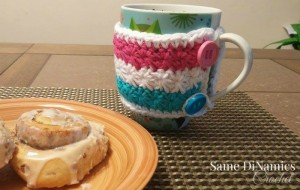 Wrapped in Stars Mug Cozy by Diane Hunt for Cre8tion Crochet