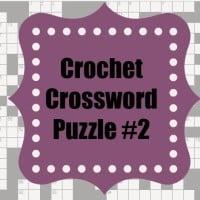 Crochet Crossword Puzzle #2