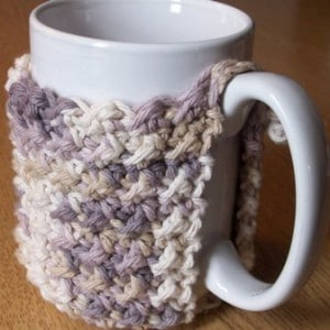 Crunch Stitch Mug Cozy by CrochetN'Crafts