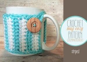 Striped Mug Cozy by Little Monkeys Crochet