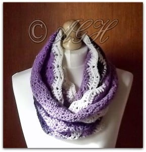 """Charlotte"" Infinity Scarf with Buttoned Band by AG Handmades"