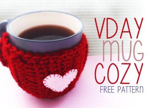 Valentine's Day Mug Cozy by Little Monkeys Crochet
