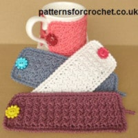 Simple Mug Cozy by Patterns For Crochet