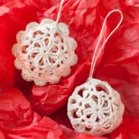 Lace Christmas Ornaments by Petals to Picots