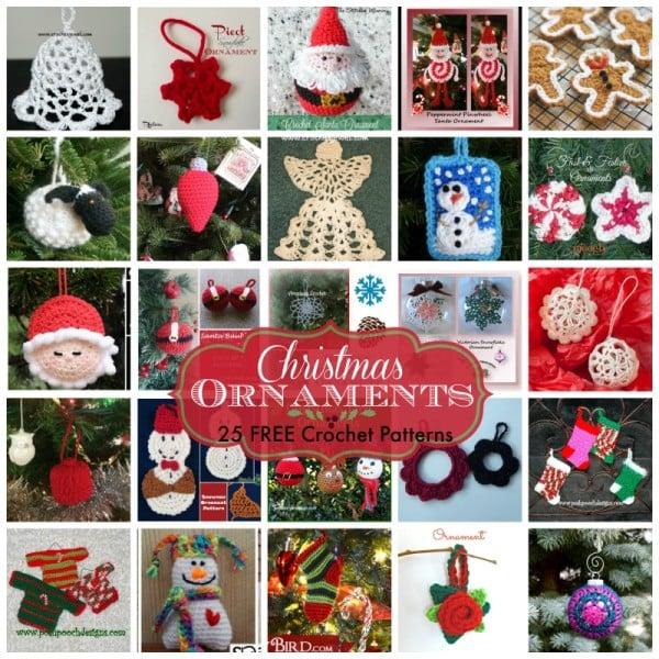 Christmas Ornaments ~ FREE Crochet Patterns