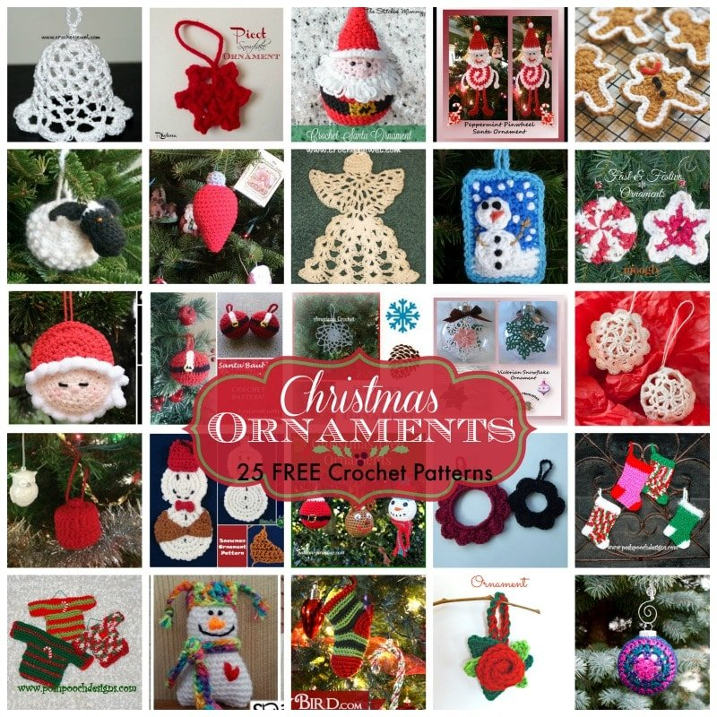 Free Thread Crochet Christmas Ornaments Patterns : Christmas Ornaments ~ 25 FREE Crochet Patterns - Rhelenas ...