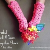 Shell N Chains Fingerless Gloves by Crochet For You