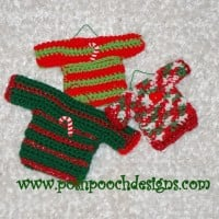 Mini Sweater Ornaments by Posh Pooch Designs