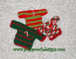 Mini Sweater Ornaments by Posh Pooch Designs