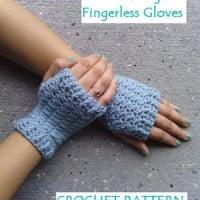 Women's Sweet Delight Fingerless Gloves by EyeLoveKnots