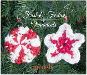 Fast and Festive Crochet Christmas Ornaments by Moogly