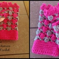 Floating Petals Fingerless Gloves by Diane Hunt for Cre8tion Crochet