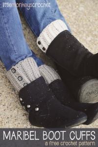 Maribel Boot Cuffs by Little Monkeys Crochet