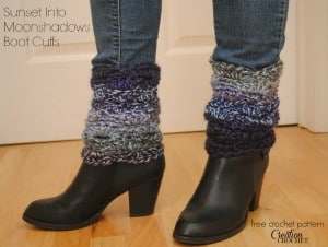 Sunset Into Moonshadows Boot Cuffs by Cre8tion Crochet