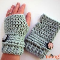 Ups and Downs Fingerless Gloves by Moogly