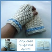 Any Size Fingerless Gloves by CrochetN'Crafts