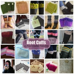 Crochet Boot Cuffs ~ 25 FREE Crochet Patterns