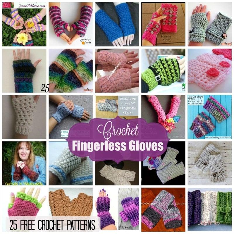 Fingerless Gloves 25 Free Crochet Patterns Rhelenas Crochet Blog