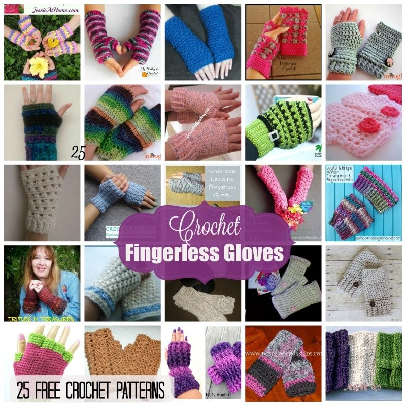 94fa2afaf Fingerless Gloves ~ 25 FREE Crochet Patterns - Rhelena s Crochet Blog