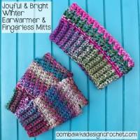 Joyful and Bright Fingerless Gloves by Oombawka Design