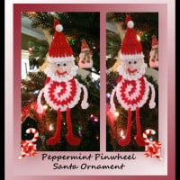 Peppermint Pinwheel Santa Ornament by Crochet Memories