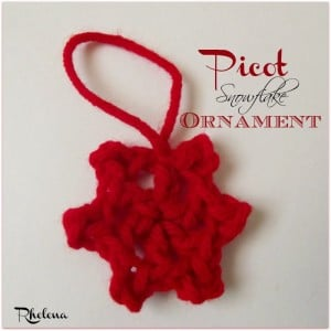 Picot Snowflake Ornament by CrochetN'Crafts