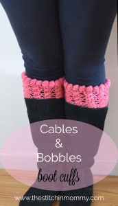 Cables & Bobbles Boot Cuffs by The Stitchin' Mommy
