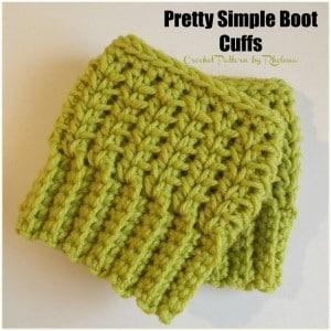 Pretty Simple Boot Cuffs by CrochetN'Crafts