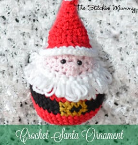 Santa Ornament by The Stitchin' Mommy
