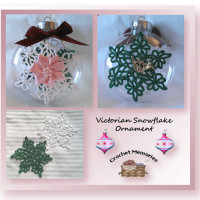 Victorian Snowflake Ornament by Crochet Memories