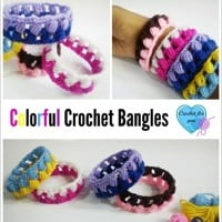 Colorful Crochet Bangles by Crochet For You