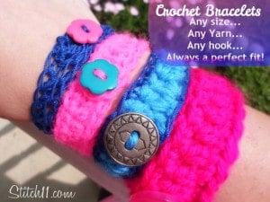 Crochet Bracelet for Everyone by Stitch11