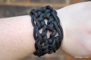 Paracord Cuff Bracelet by Calleigh's Clips & Crochet Creations