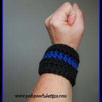 Blue Line Police Flag Bracelet by Posh Pooch Designs