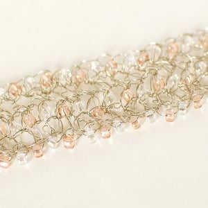 Beaded Wire Crochet Bracelet by Petals to Picots